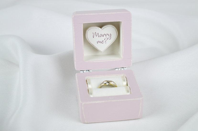Lavender Engagement Ring Box, Lavender Proposal Ring Box