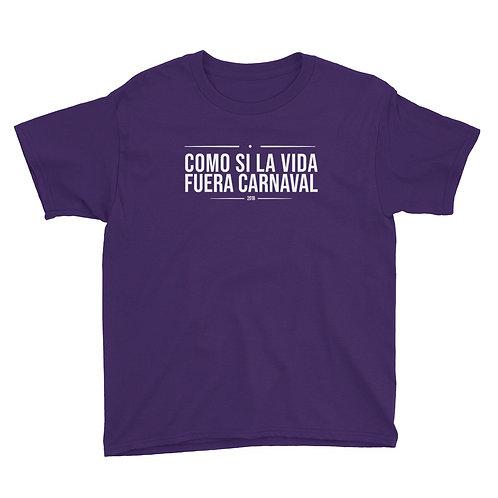 Camiseta niñ@ 'Como si la vida fuera Carnaval'