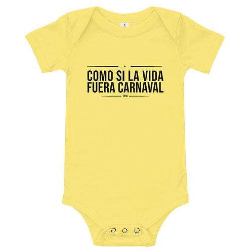 Body bebé 'Como si la vida fuera Carnaval'