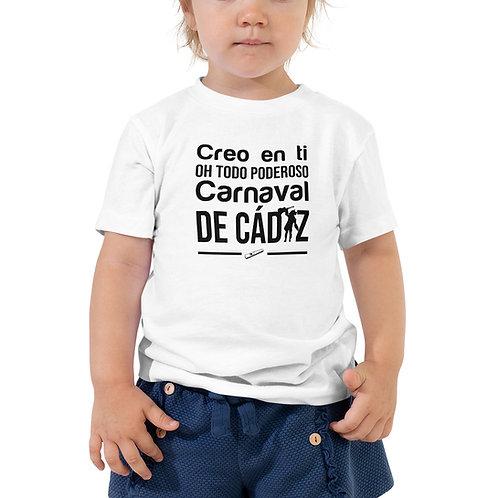 Camiseta Niñ@ 'Creo en ti, Oh todo poderoso Carnaval de Cádiz'
