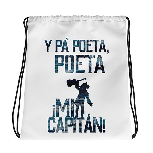 Mochila con cordones 'Pa Poeta poeta Mi Capitan'