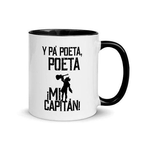 Taza color interior 'Pa´Poeta poeta mi Capitán'