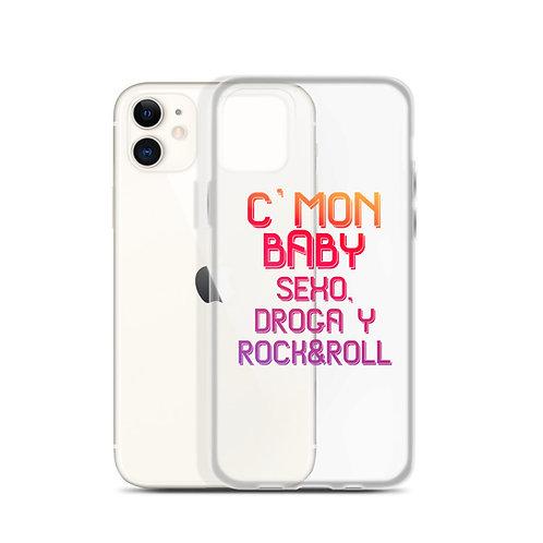 Carcasa iPhone 'C´mon baby, sexo, droga y rock&roll'