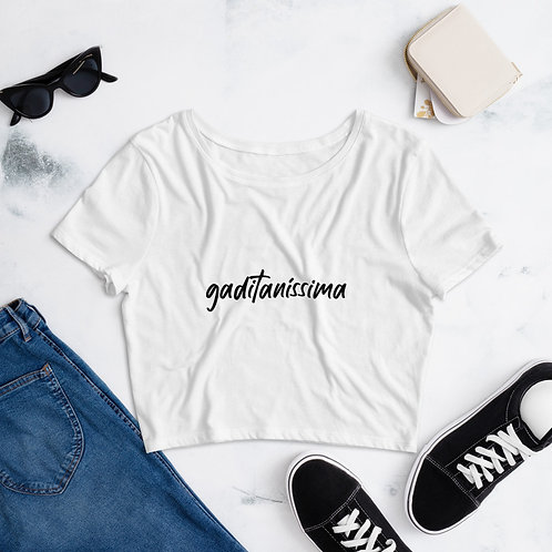 Camiseta crop top 'Gaditaníssima'