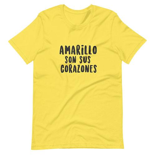 Camiseta 'Amarillo son sus corazones'