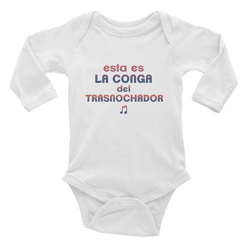 Body bebé manga larga para 'Esta es la conga del Trasnochador'
