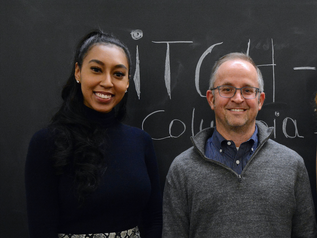 Pace SBDC Director Andrew Flamm with Pace SBDC client Ashley Scott, winner of the NYSBDC fall 2019 pitch competition