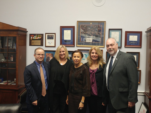 Pace SBDC Director Andrew Flamm & NYSBDC colleagues with Congresswoman Nydia Velazquez, Chair of the House's Committee on Small Business