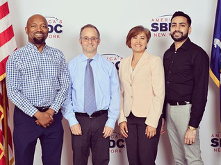 Pace SBDC team members (left to right) Rawle Brown, Andrew Flamm, Sandra Cely and Anish Thakkar