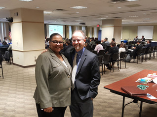 Pace SBDC Director Andrew Flamm with Robin Daniels from the SBA New York District Office at a small business lending session hosted by the SBA