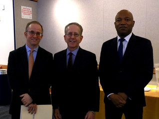 Neil Braun, Dean of Pace University's Lubin School of Business, with Pace SBDC Director Andrew Flamm & Senior Business Advisor Rawle Brown