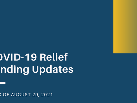 COVID-19 Relief Updates: NYS pandemic grant expanded eligibility and SVOG supplemental awards.