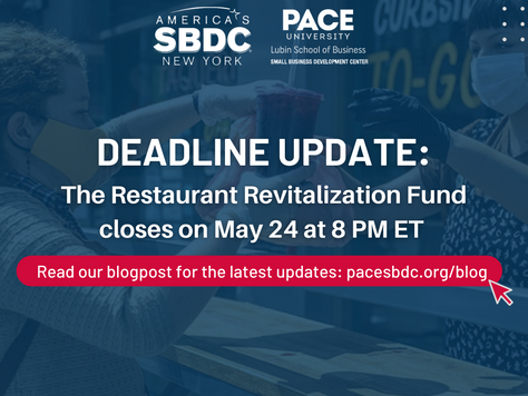 Deadline Update: The Restaurant Revitalization Fund Closes On May 24th