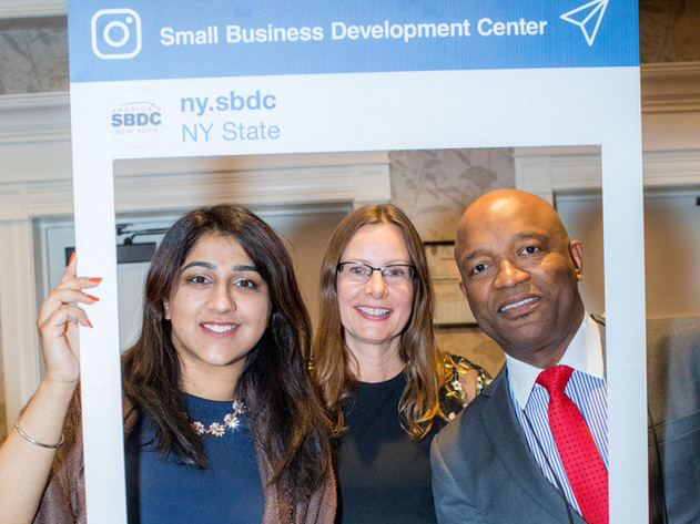 Pace SBDC Business Advisors Rawle Brown & Jaslin Singh with NYSBDC's Customer Service & Training Manager, Kathy Fitzmaurice