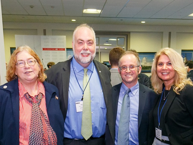 Pace SBDC Director Andrew Flamm with NYSBDC State Director Brian Goldstein, Associate State Director for Operations & Finance Tammy Mooney, and Associate State Director for Strategic Planning & Organizational Development Mary Hoffman