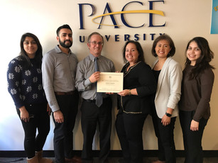 Pace SBDC team with Beth Goldberg District Director of SBA's New York District