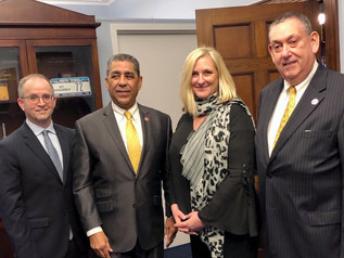Pace SBDC Director Andrew Flamm & NYSBDC colleagues with Congressman Adriano Espaillat