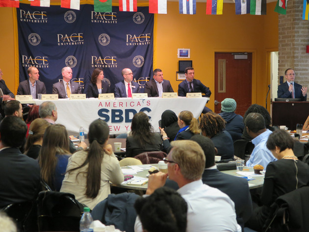 The Pace SBDC co-hosted a small business lending panel and networking session with the SBA's New York District Office