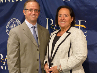 Beth Goldberg, District Director of the Small Business Administration's (SBA) New York district office, with Pace SBDC Director Andrew Flamm