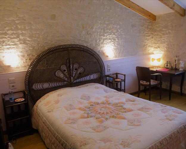 l'ambiance romantique de la chambre