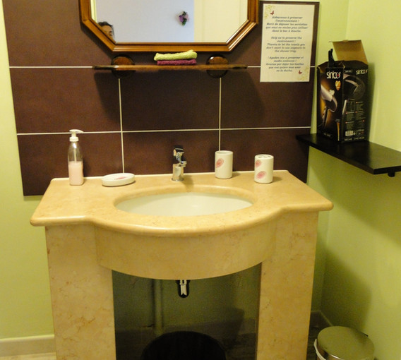 La vasque en marbre