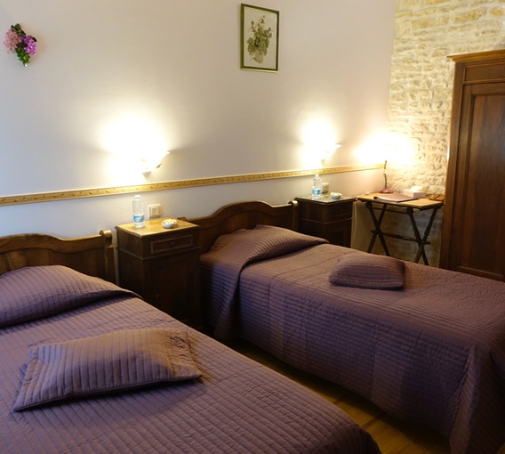 La chambre vignes aménagée en deux lits