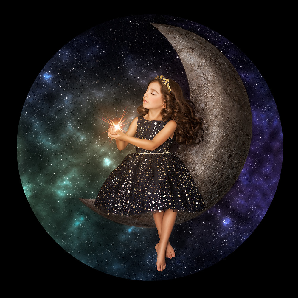 Girl-on-the-moon, Girl-in-the-stars, Playing-In-Stars