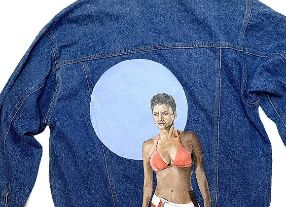 Unisex Halle Berry Vintage Denim Jacket