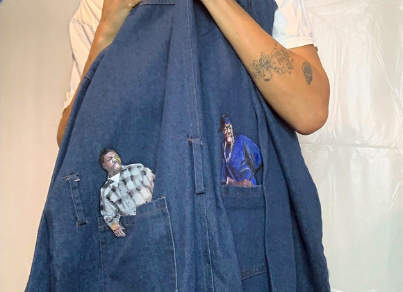 """Hand painted """"Friday"""" Vintage Coveralls"""