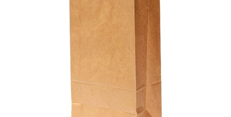 Bolsa Kraft #8fondo cuadrado,16cm de ancho, 32de largo y 9cm de fuelle