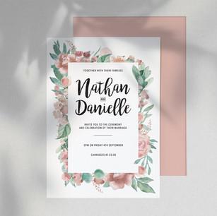 Nathan & Danielle Bespoke Wedding Invitations