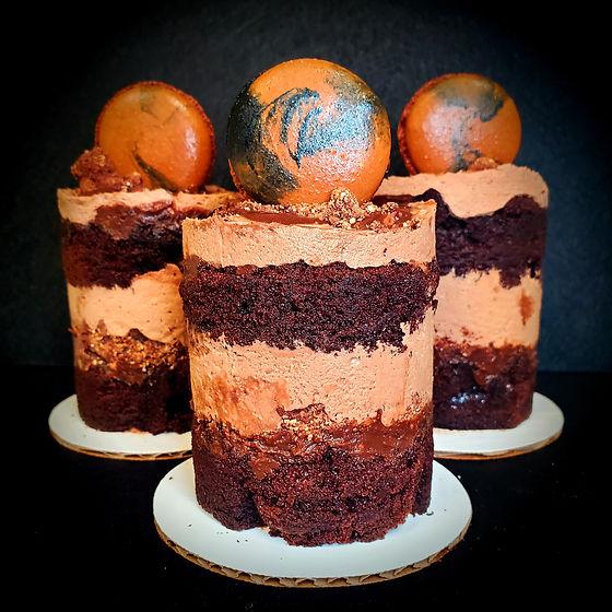 mini choco quart cakes with macs.jpg