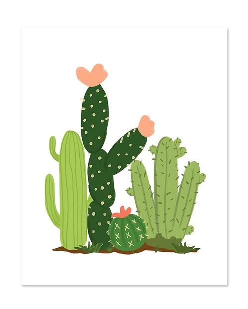 Cacti Field Art Print