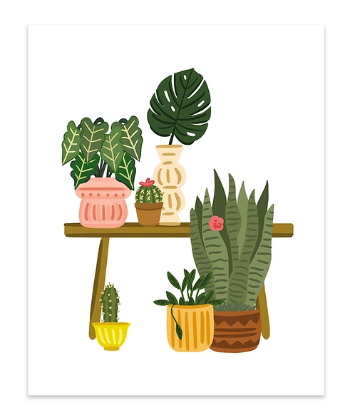 Plant Bench Art Print