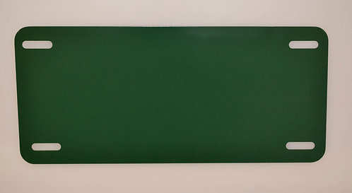 ".040 6""x12"" Gloss Green Aluminum License Plates/Car Tags."