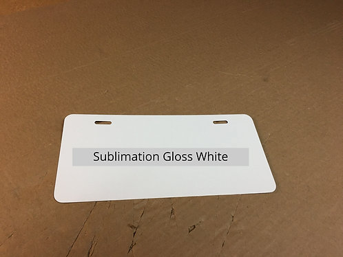".026  5.68"" x 12.00""Sublimation Gloss White Aluminum License Plate"