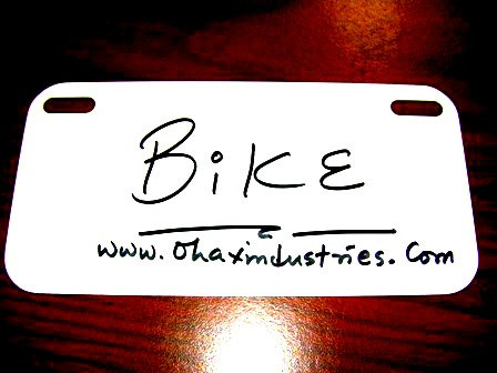 ".024 3""x 6"" Gloss White Aluminum License Plates for Bicycles ( Bikes)"