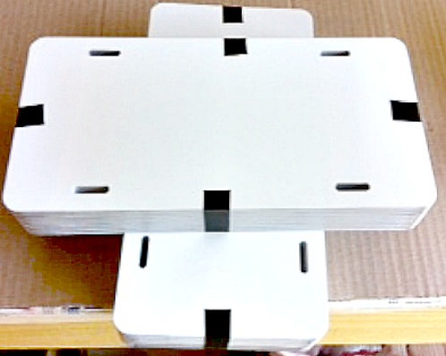 ".024 6""x12"" Gloss White / Gloss White Aluminum Sign Blanks."