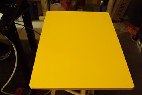 ".040 12""x18"" Both Sides Caution Yellow Aluminum Sign Blank w/ 3/4""RC."