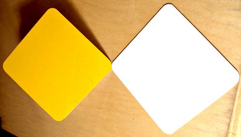 ".040 12""x12"" Gloss Caution Yellow Aluminum Sign Blanks."
