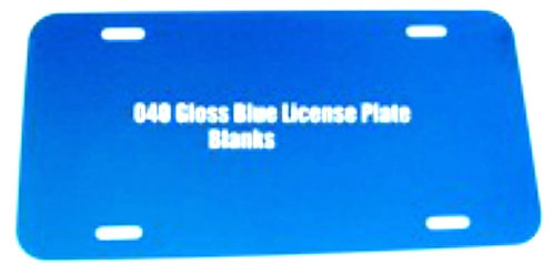 ".040 6""x12"" Gloss Blue Aluminum License Plates/Car Tags."