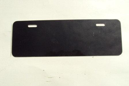 ".040 4""x12"" Gloss Black Aluminum License Plates/Car Tags-Vanity."