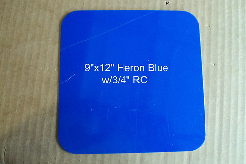 ".040 9""x12"" Heron Navy Blue Fence Sign Blanks w/ RC"