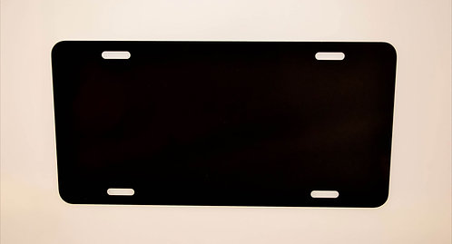 ".040 6""x 12"" Gloss Black / Gloss Black  Aluminum License Plates/Car Tags"