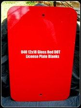 """040 12""""x18"""" Gloss RED/Gloss White Aluminum Sign Blanks-DOT Standard"""