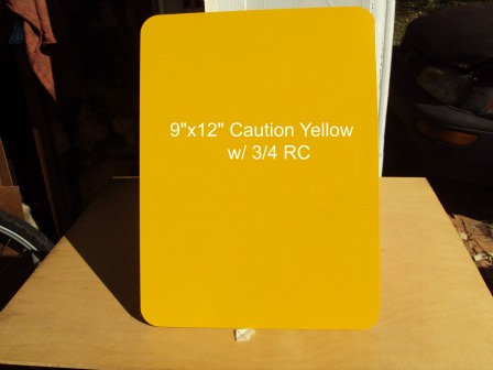 ".040 9""x12"" Caution Yellow Fence Sign Blanks w/ RC"