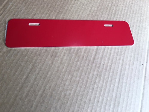 ".040 4""x12"" Gloss Red Aluminum License Plates/Car Tags-Vanity."