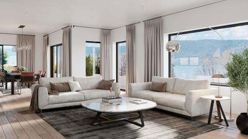 Salon dans une villa privée