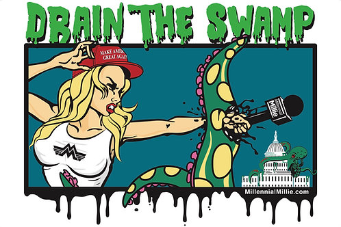 Signed Drain The Swamp Poster