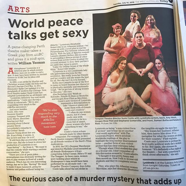 Check us out in _thewestaustralian today. We preview tonight. Get in quick.jpg